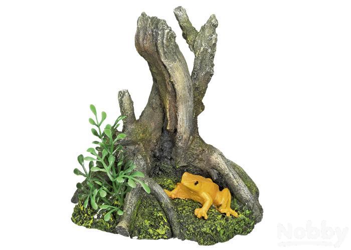 Nobby Aqua Ornaments Wurzel Mit Frosch 10x8x10,5cm Mit Einem LangjäHrigen Ruf Fische & Aquarien Dekorationen