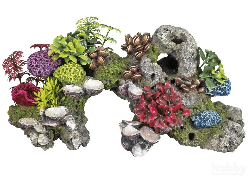 Haustierbedarf Nobby Aqua Ornaments Koralle Mit Pflanzen 28,0x12,0x13,5cm Dekorationen