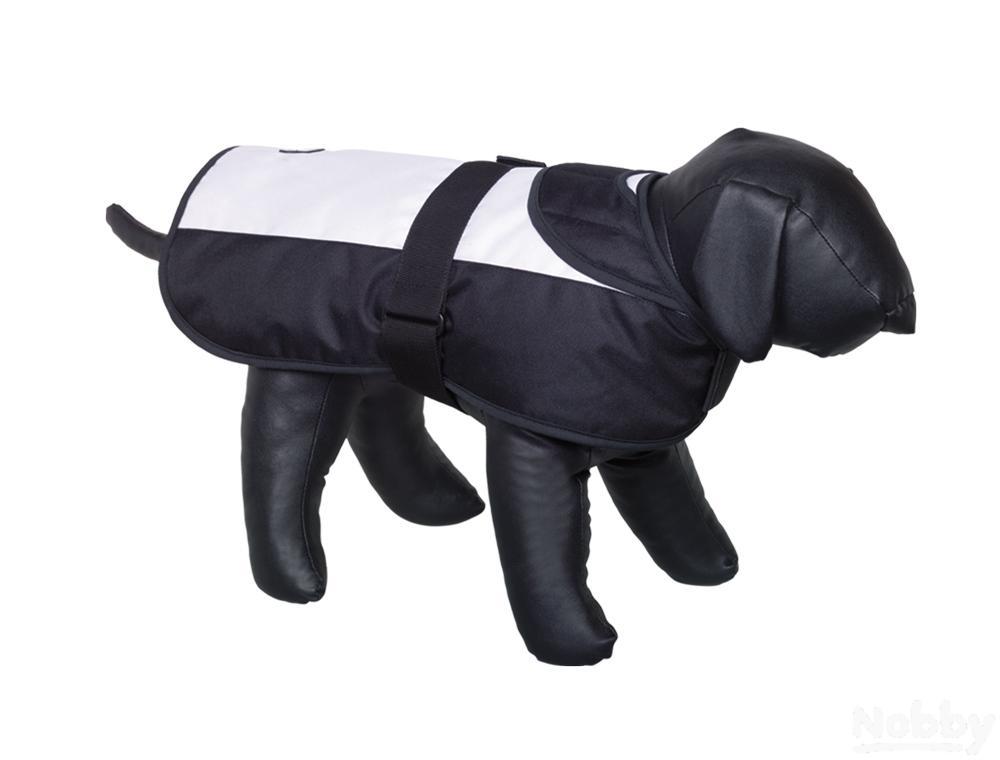 Nobby Hundemantel CAIBO weiß   schwarz 70cm   | Primäre Qualität